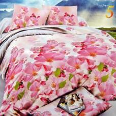 """Комплект постельного белья из сатина с эффектом 5D """"Вишнёвый сад"""" 1.5 спальный"""