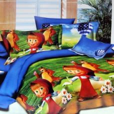 """Покрывало детское на кровать или диван с жаккардовым рисунком """"Маша и Медведь"""" 150*220см"""