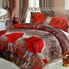 """Покрывало на кровать атласное FULL-HD """"Чайная роза"""" 230*250"""