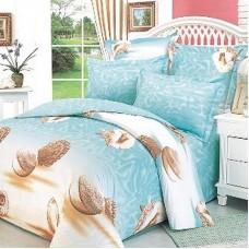 Комплект постельного белья из сатина СайлиД В-15  двуспальный с евро простынёй