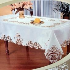 """Скатерть ришелье с вышивкой """"Флоренция"""" 113087 160*220см цвет белый"""