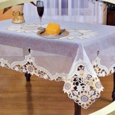 Скатерть ришелье с вышивкой 091166С 120*160см цвет белый