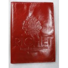 Обложка для паспорта из натуральной кожи  Richet