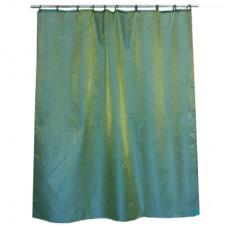 """Штора для ванной комнаты из ткани однотонная хамелеон 461-058 """"Зелёные просторы"""""""