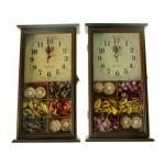 "Ключница ""Осенние цветы"" с часами"