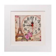 """Ключница с декоративным изображением """"Эйфелева башня"""" с часами на магнитах"""