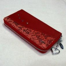 Кошелёк женский из натуральной кожи В.WERO 3401 цвет красный