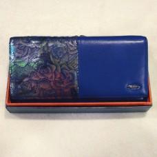 Кошелёк женский из натуральной кожи  PASSION 0212 цвет синий