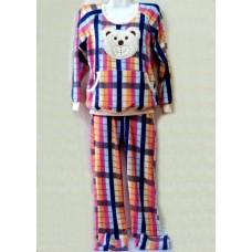 """Пижама женская махровая (брюки+кофта) с красивой аппликацией """"Медвежонок"""" С-51"""