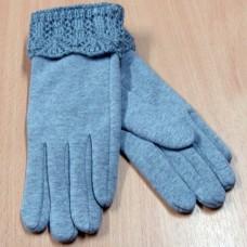 """Кашемировые женские перчатки с вязаной манжетой  """"PITTARDS"""" Р65 цвет серый"""
