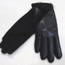 """Кашемировые женские перчатки """"MUNASHA"""" Р68 цвет чёрный"""