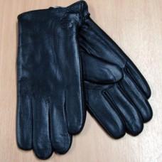 Перчатки мужские из натуральной кожи  U98 цвет чёрный