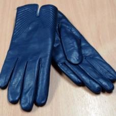 """Перчатки женские зимние из натуральной кожи """"Pitas"""" Н231 цвет синий Чехия"""