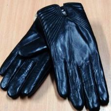 """Перчатки женские зимние из натуральной кожи """"Pitas"""" Н232 цвет чёрный Чехия"""
