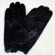 Перчатки женские из натуральной кожи укороченные  FARELLA 259 цвет черный