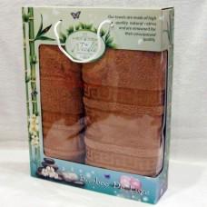 """Набор махровых полотенец """"Наоми"""" цвет коричневый"""