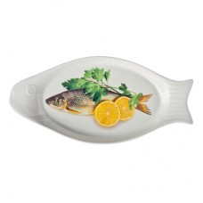 Блюдо для рыбы из фарфора FUSION 126 в подарочной упаковке