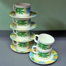 Набор чашек с блюдцами из пластика CALVE 0125 12 предметов