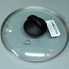 Крышка стеклянная арт. 322 22 см с металлическим ободком