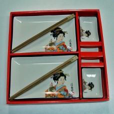 Набор для суши из керамики Saguro Гейша 8 предметов
