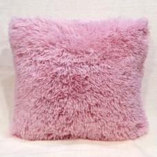 Наволочка декоративная на подушку  50*50  цвет розовый застёжка молния