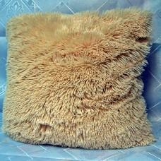 Чехол на подушку декоративный А852 из искусственного меха 50*50 цвет персиковый