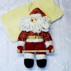 Полотенце с игрушкой Дед Мороз новогоднее