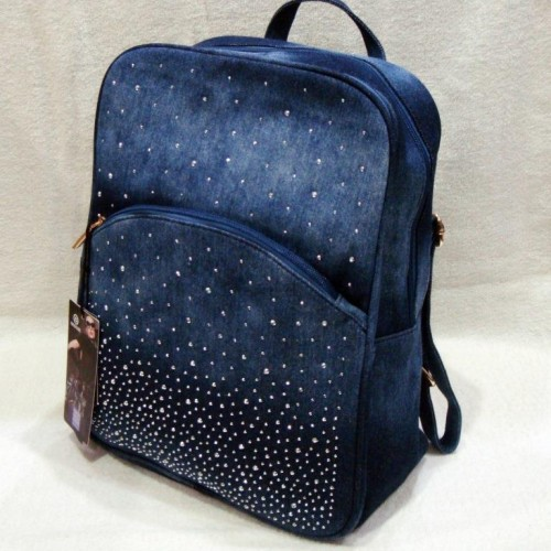 Джинсовые рюкзаки со стразами de lune рюкзаки фото