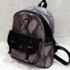 """Молодежный женский рюкзак с эффектом крокодиловой кожи """"Крокус"""""""