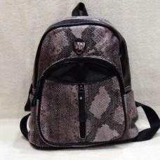 """Молодежный женский рюкзак с эффектом крокодиловой кожи """"Гламур"""""""