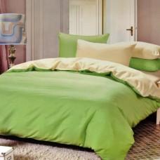 """Комплект постельного белья из сатина двухцветное однотонное """"Луч солнца"""""""