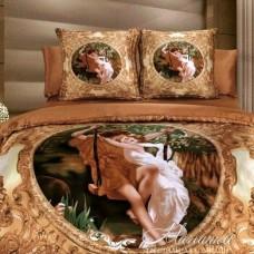 """Комплект постельного белья из искусственного шёлка """"Барокко"""" евро"""