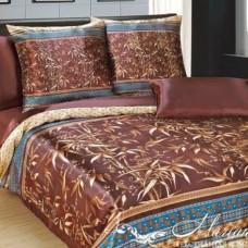 """Комплект постельного белья из искусственного шёлка евро """"Бамбук"""""""