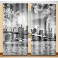 Фотошторы с эффектом объемного рисунка 3D Нью-Йорк 155*270см