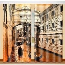 Фотошторы с эффектом объемного рисунка 3D Венеция 155*270см