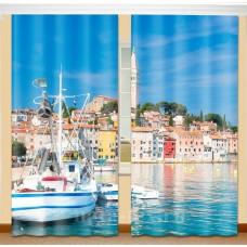 Фотошторы с эффектом объемного рисунка 3D Солнечная Испания 155*270см